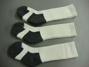 NWOT Womens 70% Merino Wool Blend Socks 3 pair Cream/Grey Sz. Small 7-9 #307