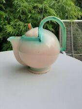 Unuaual Art Deco ceramic teapot stamped Foreign