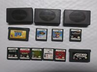 NINTENDO DS GAMEBOY ADVANCE SUPER MARIO 3 64 METROID 10 GAME LOT + CASES