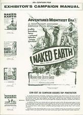 The Naked Earth (1958) Richard Todd, Juliette Gréco, John Kitzmiller pressbook