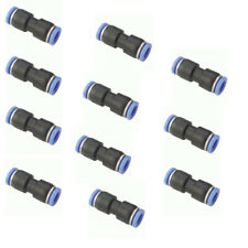 """10x 5/32"""" Od Tube Pneumatic Straight Union Connector Push To Connect Air Fitting"""