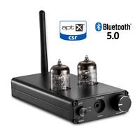 HiFi Bluetooth 5.0 DAC Audio Decoder Tube Headphone Amp Stereo Receiver APTX