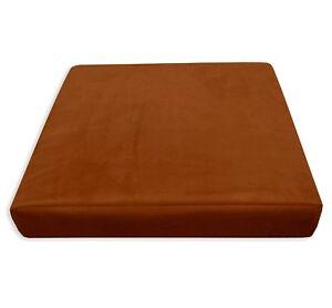 Mf48t Deep Ginger Thick Microfiber Velvet 3D Box Seat Cushion Cover Custom size