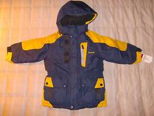 Oshkosh NWT Navy & Yellow Jacket w zip-on hood, cinched waist, 4 boy