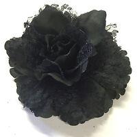 Floral Flower  Wedding  Rose Hair  Elastic Bobble Clip Brooch Bridesmaid