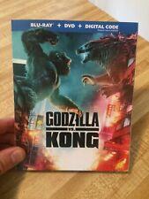 GODZILLA VS KONG BLU-RAY+DVD+DIGITAL+SLIPCOVER BRAND NEW FACTORY SEALED