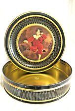 VINTAGE 1940'S SUNSHINE BISCUITS TIN Master Lambton Boy in Red Velvet Painting