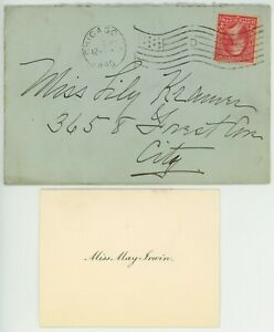 May Irwin Actress Signed Card and Postage Cover 1896 USA