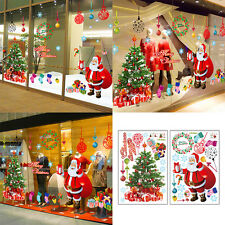 Large Removable Merry Christmas Tree Santa Wall Sticker Glass Window DIY Decal