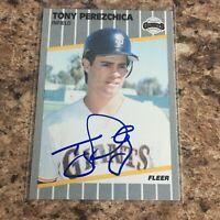 Tony Perezchica Signed 1989 Fleer Auto San Francisco Giants