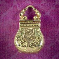 ANTIQUE VICTORIAN MOURNING PURSE LOCKET 18CT GOLD CIRCA 1860