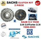 PARA SAAB 9-3 YS3D 2.0i 2.3i 2.0 Turbo 98-03 SACHS 2 PIEZAS KIT DE EMBRAGUE OE