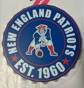 """New England Patriots RETRO Bottle Cap Sign - Est 1960 Room Bar Decor NEW 13.5"""""""