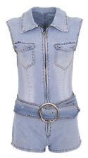 Denim Regular Sleeveless Jumpsuits & Playsuits for Women