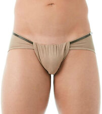 GREGG HOMME WILD WEST FAUX SUEDE LOIN CLOTH BRIEF CHARCOAL XS 142203