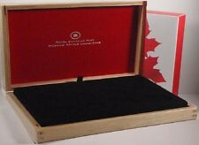 RCM 2013 $10 O Canada 12 Coin Wood Display EMPTY  Box (No Coins)