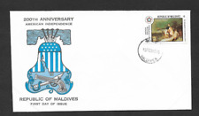 REPUBLIC OF MALDIVES ISSUE FIRST DAY COVER 1976 200th YEAR AMERICAN INDEPENDENCE