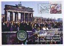Vaticano 2014 enumeratori. NUMISBRIEF con 2 € euro GM 25 anni caso muro di Berlino