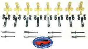 58-61 Impala Bel Air Biscayne Head light Lamp Adjuster Adjusting Screw Clip RW