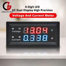 4 Digital Dual Led Dc0 200v 10a High Volt Voltmeter Current Ammeter Meter M4430
