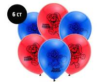 """Super Mario Brothers Balloons [6ct] 12"""" Latex Birthday Party Decoration Supplies"""