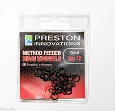 Preston INNOVACIONES Método Alimentador Anillo gira 10 PK Talla 6 aparejos de pesca fmfrs