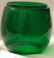 GREEN GLASS GLOBE FOR DIETZ LITTLE WIZARD KEROSENE BARN RAILROAD LANTERN