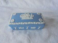 Wedgwood Jasperware Blue & White Match or Trinket Box Made In England