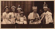 CORONATION 1937. Buckingham Palace Balcony. George VI. Princess Elizabeth 1937