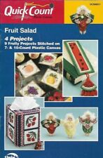 Fruit Salad 4 Projects Quick Count in Plastic Canvas Angels Bookmark Tissue Box