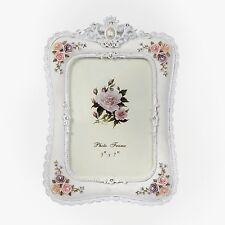 """Europe Retro Style Photo Fame Resin 5""""X7""""  With 3D Follower  And Lace Decoration"""