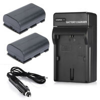 2x 2600mAh LP-E6 Battery+Charger for Canon EOS 6D 60D 7D 70D 5D Mark II III DSLR