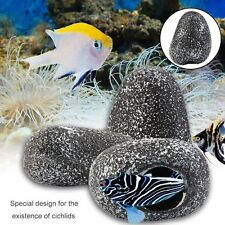 Fish Tank Pond Decorative Cichlid Stone Cave Shrimp Breeding Tank Ornament GN