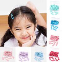 Baby Kids Newborn Snap Hair Clip Hairpins 50Pcs/Box Hair Barrettes Solid Color