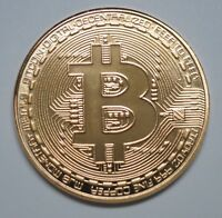 Bitcoin Gold Plated Physical Commemorative Bitcoin BTC Collectible Coin in Case