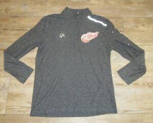 Fanatics Detroit Red Wings Authentic Pro Pullover 1/4 Zip Tech Shirt Men's Large