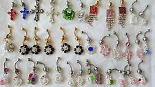 Joblot of 36 Mixed color Surgical Steal & Diamante Belly Bars - NEW Wholesale