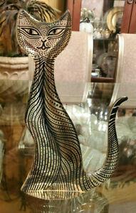 """Abraham Palatnik Lucite Cat Rare Large 16"""" Midcentury Acrylic Art Brazil Signed!"""