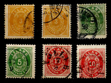 ICELAND: 19TH CENTURY CLASSIC ERA STAMP COLLECTION NUMERALS