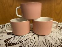 Vintage Mikasa Mediterrania Pink Coffee Cups -Set Of 3