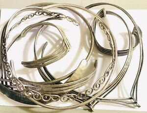 275G LOT SOLID STERLING SILVER 925 COLLAR NECKLACES BRACELETS NICE OR SCRAP