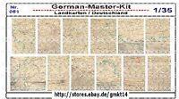 Diorama Zubehör 1:35 Landkarten-Wandkarten, Varianten 4, World War II, GMK