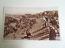 REDCAR, Beach+Esplanade (12)  Vintage Real Photo PC M & L National Series  §D338