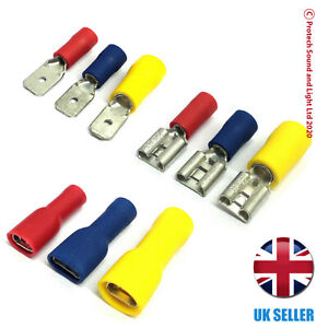 Male / Female / Fully Insulated Spade Terminal Connectors - Crimp Connector