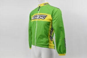 Verge Kid's Medium Classic Lightweight Wind Cycling Jacket Green/Yellow