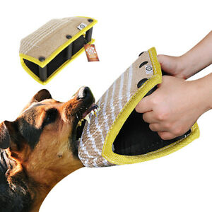Jute Pet Dog Bite Pillow Arm Sleeve with 3 Handles for Schutzhund Training K9