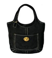 NICE Coach Black Signature C Logo XL Ergo Shoulder Tote Bag Purse Handbag WOW!
