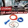 1500w Car Amplifier Wiring Kit Set Audio Subwoofer AMP RCA Power Cable AGU FUSE