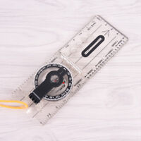 1pc portable fold compass mm inch travel baseplate ruler compass map
