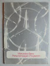 Prospekt Mercedes Programm mit W 114-115, W 116, 600, R/C 107, 12.1973, 32 S.